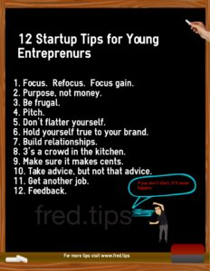 Entrepreneur 12 tips