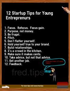 Entrepreneur 12 tips